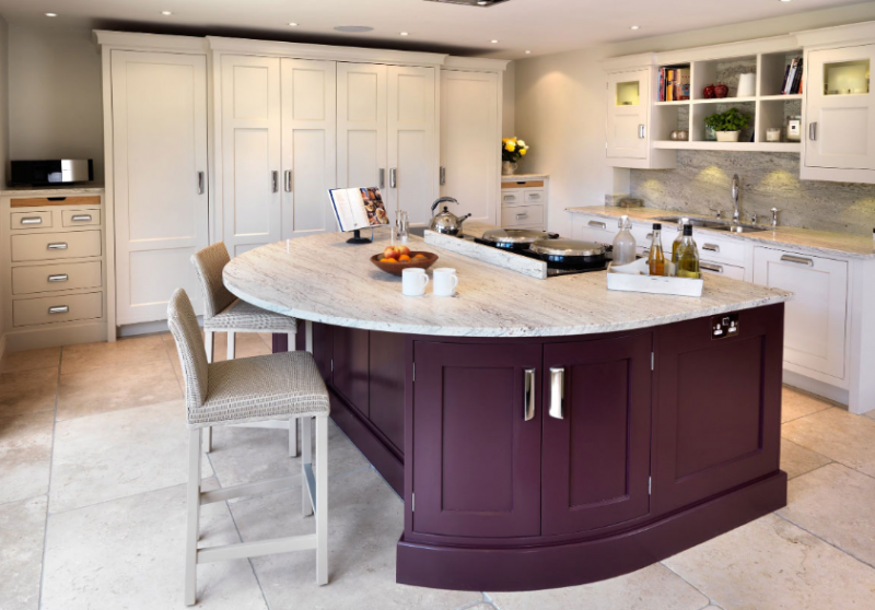 AUTUMN PURPLE KITCHEN ISLAND