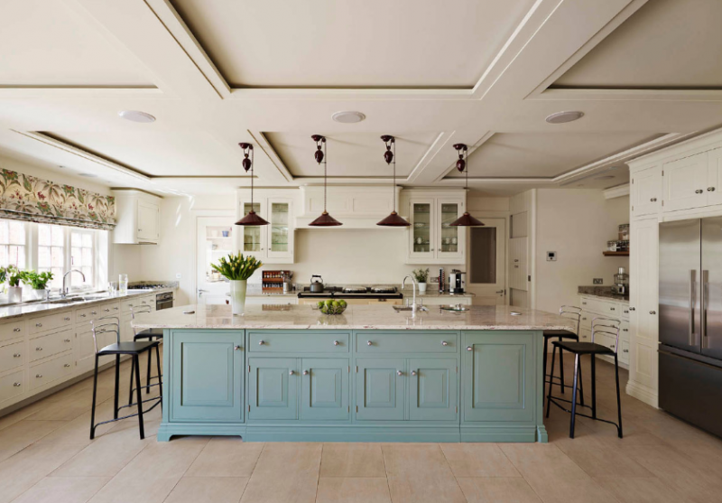 BIG BLUE KITCHEN ISLAND